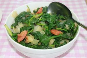 Spinazie-tomaat-ui