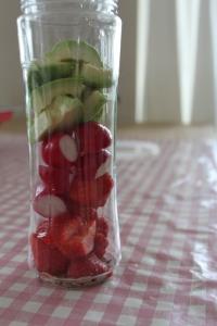 Aardbeien-radijs-smoothie