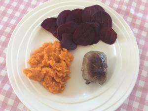 Geroosterde-rode-bietjes-zoete-aardappelpuree