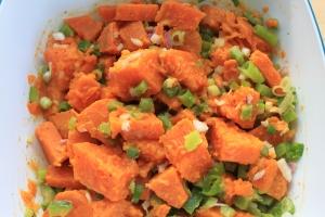 Zoete aardappel-salade