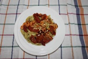 Pasta_garnalen_zongedroogde tomaten