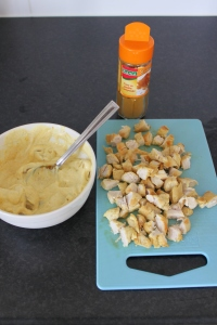 Kip-kerrie-salade