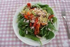 Spinazie-salade-warm-lovetocookhealthy