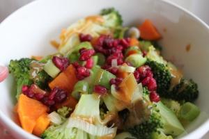 Zoete aardappel-broccoli-salade