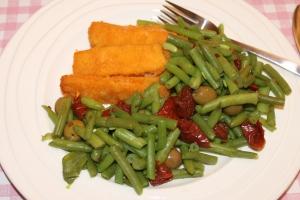Sperziebonen-zongedroogde tomaten-olijven-lovetocookhealthy