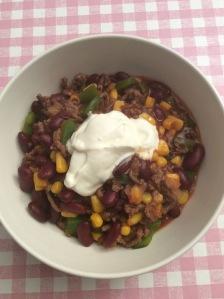 Romige chili con carne
