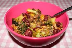 Chili con carne-broccoli