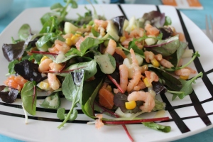 Salade met garnalen en zalm-lovetocookhealthy (3)