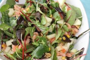 Salade met garnalen en zalm-lovetocookhealthy