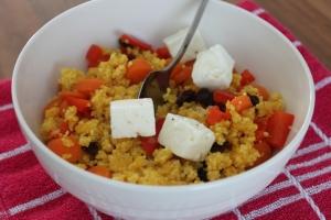 Couscous met kurkuma en feta-lovetocookhealthy