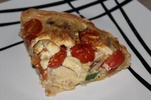 Hartige taart-met-courgette-champignons-cherrytomaat-lovetocookhealthy