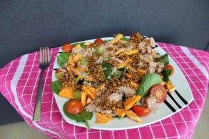 Linzensalade-met-spinazie-en-zoete-aardappel-lovetocookhealthy