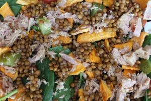 Linzen -salade-met-spinazie-en-zoete-aardappel