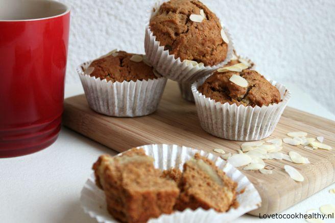 Gezondere gevulde speculaas muffins