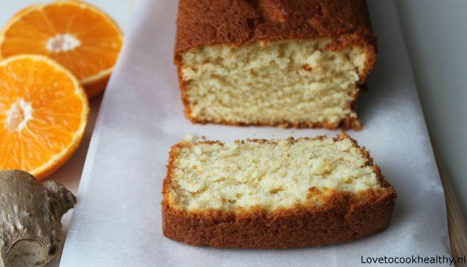 Sinaasappelcake met gember