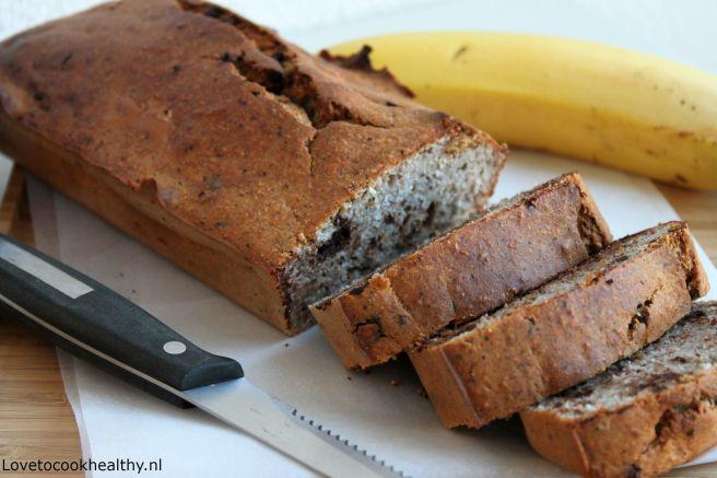 Bananenbrood met chocolade en kokos