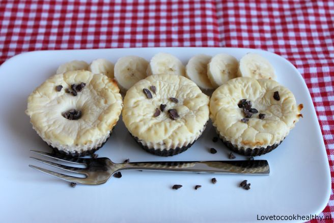 Proteïne banaan cheesecakes