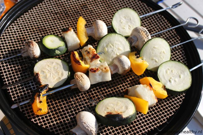 Vegetarische barbecuespiesjes