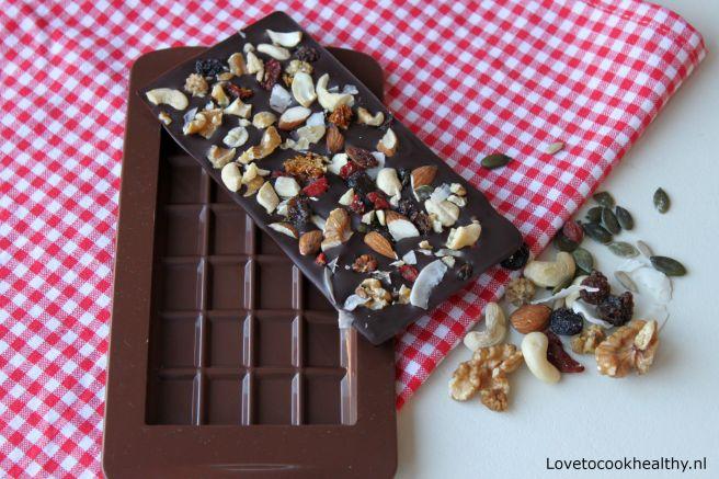 Zelf chocoladereep maken