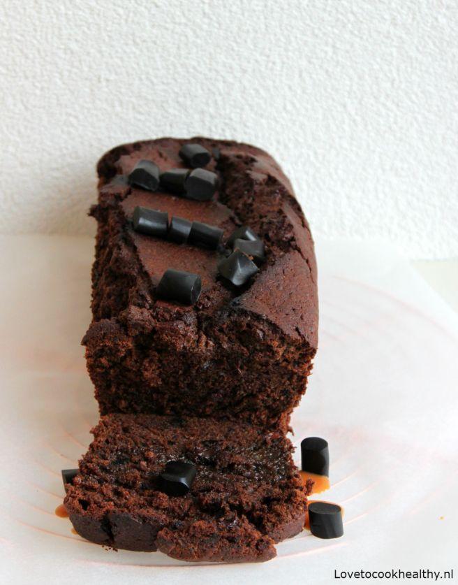 Chocoladecake met drop